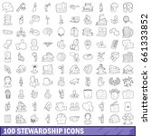 100 stewardship icons set in... | Shutterstock .eps vector #661333852