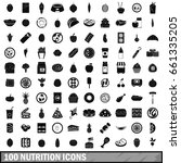 100 nutrition icons set in... | Shutterstock .eps vector #661335205