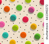 colorful dot seamless pattern... | Shutterstock .eps vector #661340272