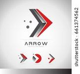 arrow moving forward concept... | Shutterstock .eps vector #661374562