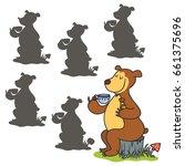 cartoon bear .find the right...   Shutterstock .eps vector #661375696