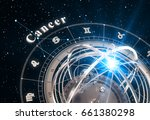zodiac sign cancer and... | Shutterstock . vector #661380298
