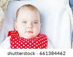 portrait photo of blue eyed... | Shutterstock . vector #661384462