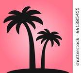 vector palm icon   Shutterstock .eps vector #661385455