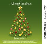 christmas tree. vector | Shutterstock .eps vector #66138799