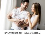 view at happy family with...   Shutterstock . vector #661392862
