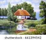 Landscape Oil Painting On...