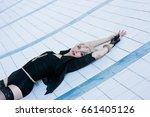 beautiful young blonde sensual... | Shutterstock . vector #661405126