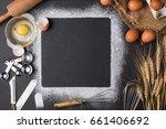 baking utensils and ingredient... | Shutterstock . vector #661406692