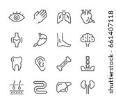 set line icons of human organs | Shutterstock .eps vector #661407118