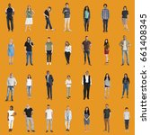 various of diversity people... | Shutterstock . vector #661408345