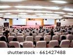 abstract blurred  asian speaker ... | Shutterstock . vector #661427488