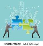 partnership   Shutterstock .eps vector #661428262