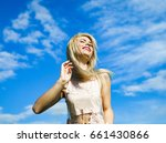 smile freedom and happiness...   Shutterstock . vector #661430866