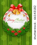 Christmas Wreath With Bow And...