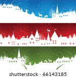 set of a christmas banners