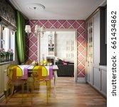 modern provence style kitchen... | Shutterstock . vector #661434862
