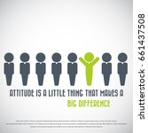 attitude is a little thing that ... | Shutterstock .eps vector #661437508