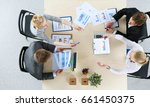 business people sitting and... | Shutterstock . vector #661450375