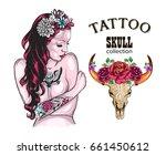 flower tattoo design shop...   Shutterstock .eps vector #661450612
