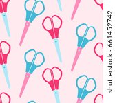 pattern scissors | Shutterstock .eps vector #661452742