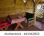 inside of an alcove with wooden ... | Shutterstock . vector #661462822
