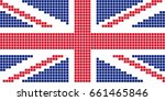 pixel united kingdom flag.... | Shutterstock .eps vector #661465846