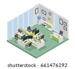 modern isometric employee... | Shutterstock .eps vector #661476292