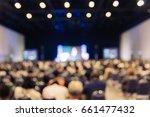 blur seminar room. | Shutterstock . vector #661477432