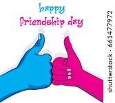 happy friendship day poster... | Shutterstock .eps vector #661477972