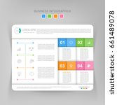 infographic template of four... | Shutterstock .eps vector #661489078