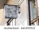 blank modern outdoor business... | Shutterstock . vector #661493512