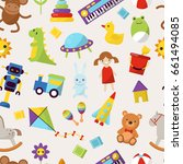 kid toys vector illustration... | Shutterstock .eps vector #661494085