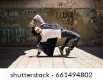 young male hip hop dancer...   Shutterstock . vector #661494802