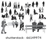 senior  silhouettes collection | Shutterstock .eps vector #66149974