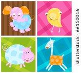 cute little baby animals | Shutterstock .eps vector #66150016