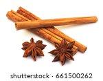 Three Cinnamon Sticks With Sta...