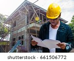 abstract engineer contractor... | Shutterstock . vector #661506772