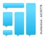 blue blank speech bubble dialog ... | Shutterstock .eps vector #66150778