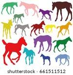 set of vector standing ... | Shutterstock .eps vector #661511512