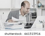 young and smiling businessman... | Shutterstock . vector #661515916
