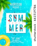 blue summer party flyer.... | Shutterstock .eps vector #661519786