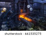 iron and steelworks factory | Shutterstock . vector #661535275