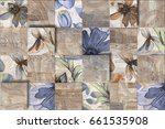 abstract colorful flower wall... | Shutterstock . vector #661535908