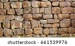 wall assembled from a roughly... | Shutterstock . vector #661539976