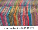 laos   textile products in the... | Shutterstock . vector #661542772