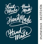 hand made hand written... | Shutterstock .eps vector #661551436