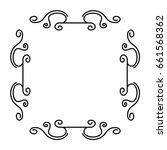 elegant victorian style frame | Shutterstock .eps vector #661568362