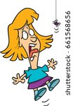 cartoon girl screaming at the... | Shutterstock .eps vector #661568656