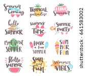Summer Coming Time Lettering...